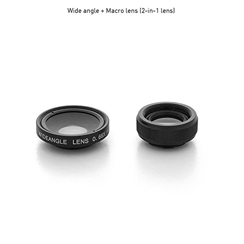 bitplay 2 in 1 Professional 0 68X Wide Angle 1 5X Macro Add-on Lens for  Smartphones