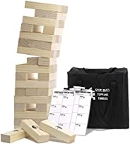 Large Tumbling Timbers Life Size Tumble Tower Wooden Stacking Games Yard Outdoor Games for Adults and Family L