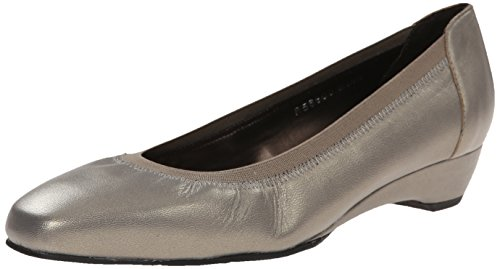 Rose Petals Women Brandi Dress Pump Pewter Kid
