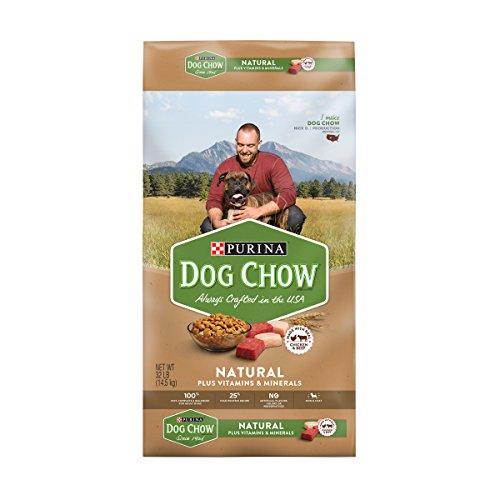 Purina Dog Chow Natural, High Protein Dry Dog Food, Natural - 32 lb. Bag