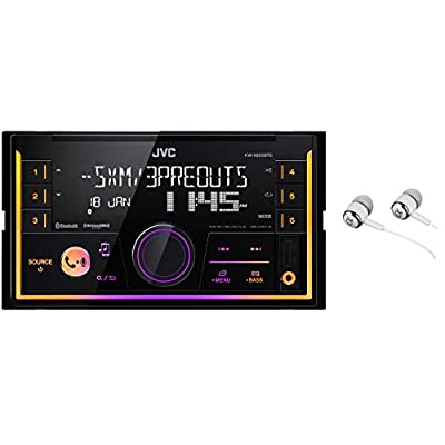 JVC KW-SX83BTS 2-Din Apple and Android Compatibility Digital Media Receiver featuring Bluetooth, USB, SiriusXM Ready, Pandora, iHeartRadio, Spotify, 13-Band EQ and JVC Remote /Free Alphasonik Earbuds
