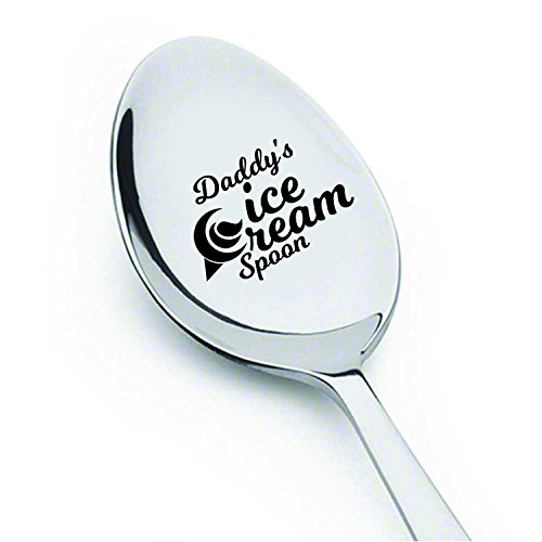 Dad gifts - Fathers Day Gifts - Gifts for men - Daddys Ice Cream Spoon - Best Selling item - Funny gifts - Birthday Gifts - Unique Gifts - Gifts for Dad - Gifts for Grandpa - Engraved Spoon - 7 Inches by signatives
