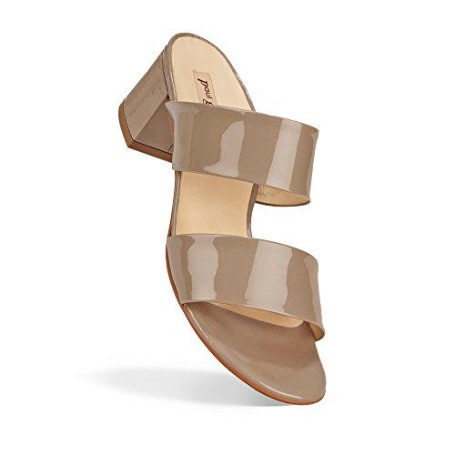 Paul Green 6016-099 Damen Pantolette Aus Edlem Lackleder Lederinnenausstattung Taupe