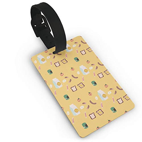 Kla Ju Luggage Tags Breakfast Time Pattern Suitcases Bags Name ID Labels Travel Accessories