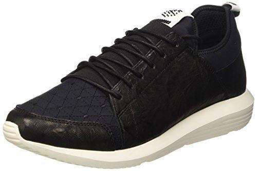 Bikkembergs Speed 581 L.Shoe M Leather/Lycra, Sandalias con Plataforma para Hombre, Negro Negro (Black/Origami Embroidery)
