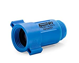 Camco 40143  Plastic Water Pressure Regulator - Prevents Damage To RV Water Hoses and Pumps From Inconsistent Water Pressure, Lead Free