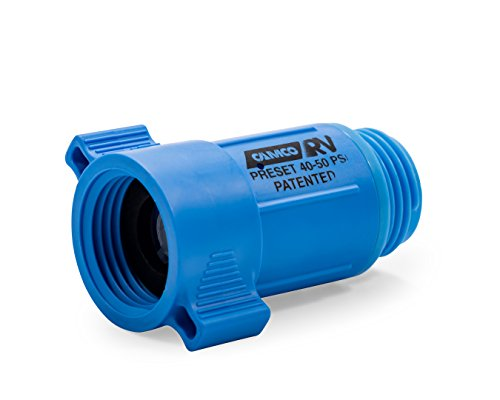 (Camco 40143  Plastic Water Pressure Regulator - Prevents Damage To RV Water Hoses and Pumps From Inconsistent Water Pressure, Lead Free)