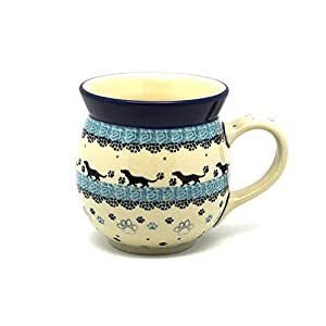 Polish Pottery Mug – 15 oz. Bubble – Diggity Dog