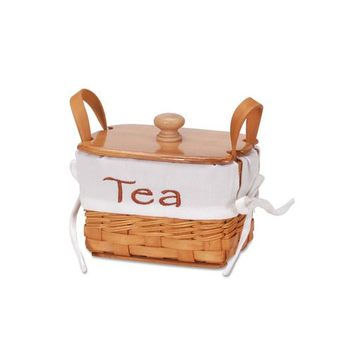 Bulk Buy: Darice DIY Crafts Chipwood Tea Basket with Liner 6 inches (12-Pack) 2860-10