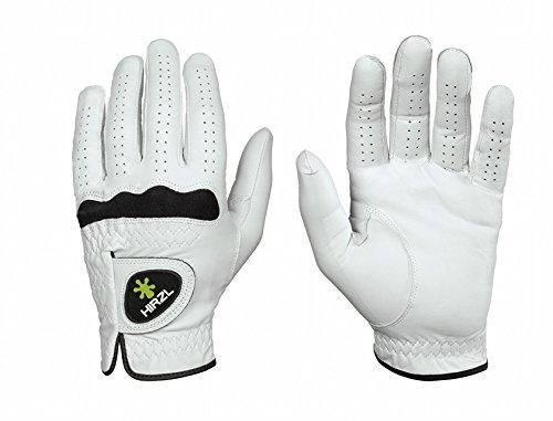 Hirzl Men's Soft Flex Cabretta Leather Golf Glove Worn on Right Hand (Medium White) Left Handed Golfer