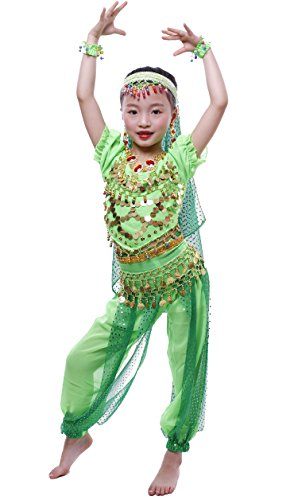 Astage Girls Short Sleeve Belly Dancing Carnival Performance