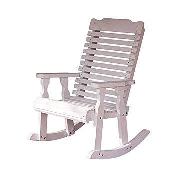 Amish Heavy Duty 600 Lb Classic Pressure Treated Rocking Chair Cedar Stain