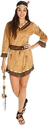 TecTake dressforfun Disfraz de India Apache para Mujer | Bonito ...
