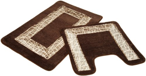 Outlet Editex Home Textiles Cosmo 2 Piece Bath Rug Set, Gold/Light Brown