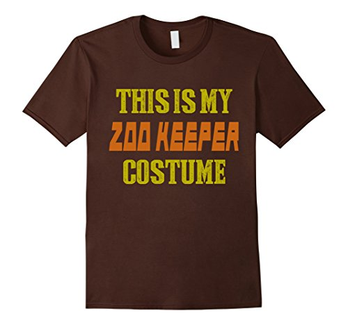 Men's Halloween Shirt - This is My Zoo Keeper Costume Large Brown (Zookeeper Costume)