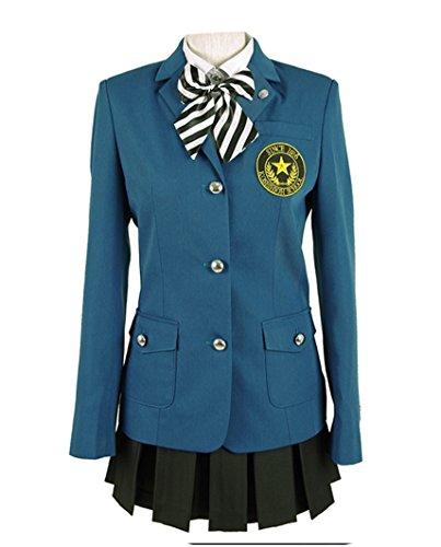 Yunbei Persona 5 Hifumi Togo Cosplay Costume School Uniform Halloween Suit (XXL, Blue)]()