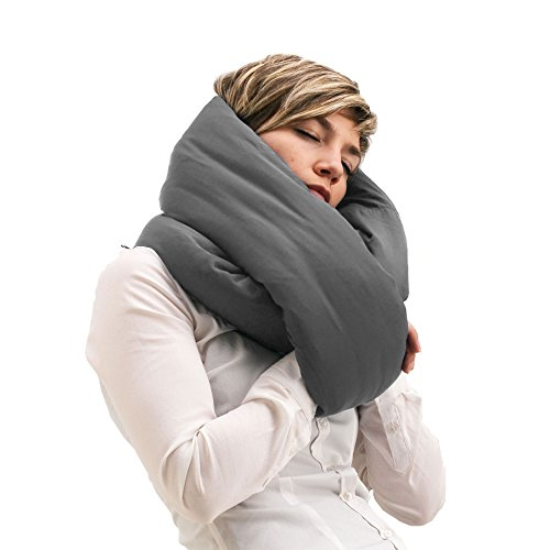Huzi-Infinity-Pillow-Design-Power-Nap-Pillow-Travel-and-Neck-Pillow-Grey
