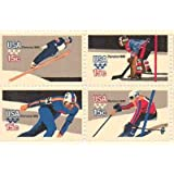 Winter Olympics 1980 Series Set of 4 x 15 Cent US Postage Stamps Scot 1795-8