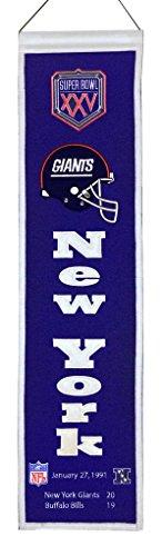 NFL New York Giants Super Bowl XXV Banner