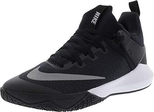 Nike Men s Zoom Shift Tb Black White Ankle-High Mesh Basketball Shoe - 10.5M 86c41577e