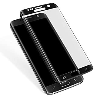 Galaxy S7 Edge Tempered Glass Screen Protector, Full Coverage, Anti-Scratch, HD Clear 3D Curved Film for Samsung Galaxy S7 Edge (Not for Galaxy S7) (Black)
