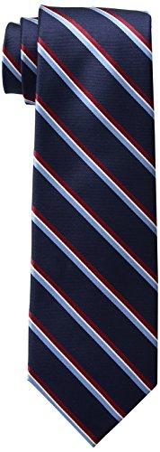 Tommy Hilfiger Men's Stripe Tie, Navy, One Size