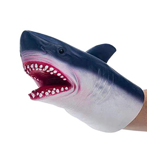 Yolococa Hand Puppet Toys,Soft Rubber Realistic Shark Head (Hand Puppet Toy)