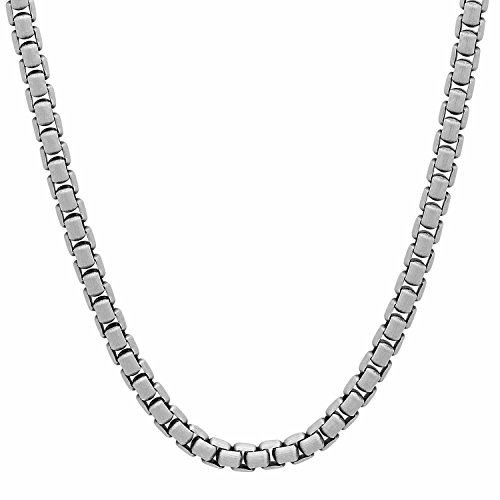 Men S Solid 925 Sterling Silver 3 5mm Round Box Chain W