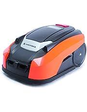 YARD FORCE X60i Mähroboter mit App-Steuerung – Selbstfahrender Rasenmäher Roboter mit Regensensor – Akku Rasenroboter für bis zu 600m² Rasen & 40% Steigung 28 V, schwarz/orange