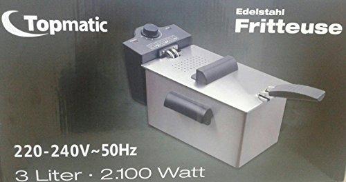 Topmatic Kaltzonen Fritteuse 2100 W EFT-2100 Edelstahl