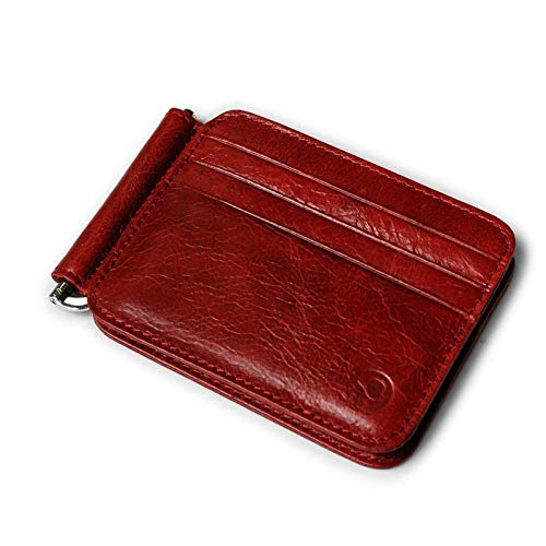 Amazon.com: VT BigHome 2018 Retro Cow Leather Wallet Men Money Clips Quality Cowhide Cards Clutch Wallets Women Housekeeper Clutch Purse: Kitchen & Dining