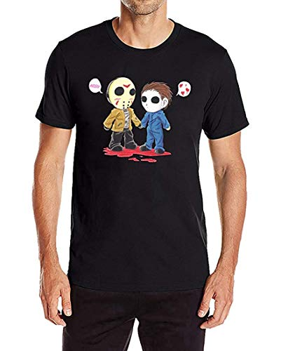 RDSMZ Jason Voorhees and Michael Myers Men's Casual Short Sleeve Graphic Tee -