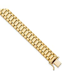 14k Yellow Gold Mens Bracelet 8 Inch H Link Man Men Fine Jewelry Gift For Dad Mens For Him