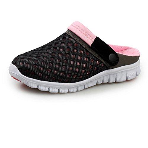 Eagsouni® Unisex Damen Herren Hausschuhe Muffin unten alltägliche Drag Hausschuhe Beach Schuhe Sommer,Gr.36-46 Pink