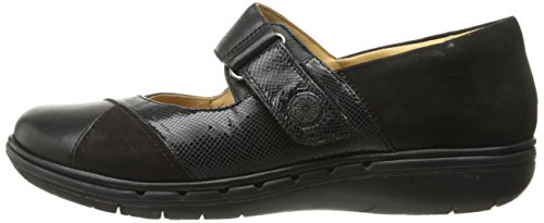 Clarks Women's Un Swan Mary Jane Flat, Black Combination Leather, 5.5 M US by CLARKS (Image #5)