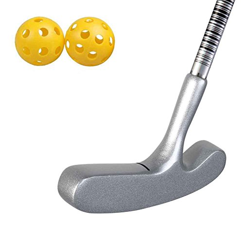Two Way Blade Golf Putter Designs for 3 to 5 Years Old Kids,Comes With 2 Plastic Practice Balls (25inch, Silver Head Pink Grip)