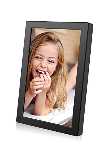 BSIMB Digital Picture Frame 10.1 Inch WiFi 16GB Digital Photo Frame 1280x800 IPS Touch Screen Auto Rotate Motion Sensor Add Photos/Videos from iPhone & Android App/Twitter/Facebook/Email W10 (Wireless Frames)