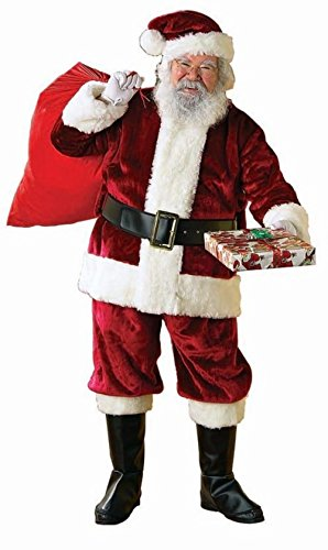 Rubie's Adult Crimson Regency Plush Santa Suit With Gloves , XX-Large ()