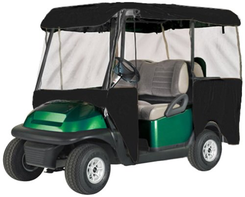 Eevelle Greenline 4 Passenger Drivable Golf Cart Enclosure (Jet Black, 106x47.5x62-Inch)