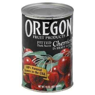 Oregon Specialty Fruit, Dark Sweet Cherries, Pitted, All-Natural, 15 Ounces, 3-Pack Roasted Sweet Fruit