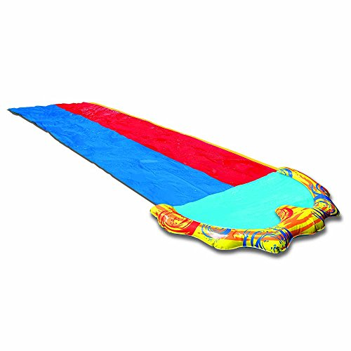 banzai splash sprint water slide foot dual racing lanes pool