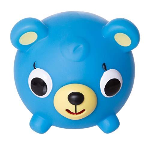 Jabber Ball Japan Oshaberi Doubutsu Talking Animal by Sankyo Toys - Borukuma Stress Relievers Squishy Ball - Neon Blue Bear ()