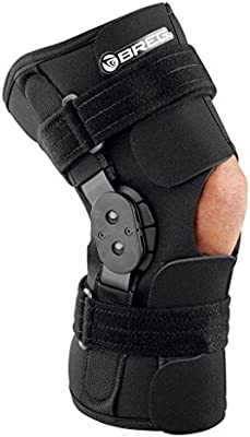 d238ab5ad4 Amazon.com: Breg Shortrunner Soft Knee Brace, Neoprene, Open Back,  Wraparound (Medium): Health & Personal Care