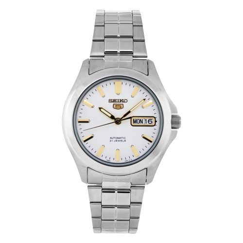 Seiko-Mens-SNKK89-Stainless-Steel-Analog-with-White-Dial-Watch