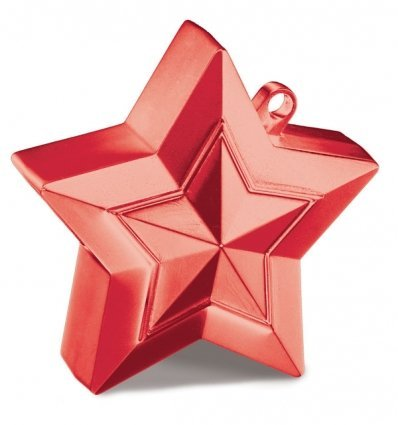 (Red Star Shaped Balloon Weight)