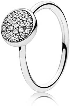 Pandora Dazzling Droplet Ring, Clear CZ, 5 US, 50 Euro, 191009CZ-50