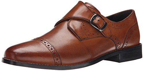 Nunn Bush Men's Newton Monk Strap Oxford, Cognac, 10 M - Monk Strap Shoes Dress