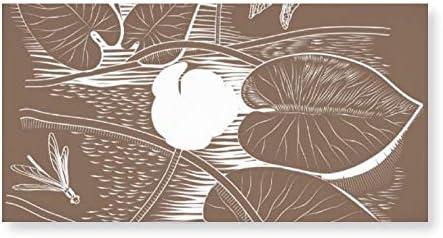 INOV 写実的な水ユリ アートパネル アートフレーム おしゃれ 壁掛け インテリア 絵 アートパネル モダン インテリアアート