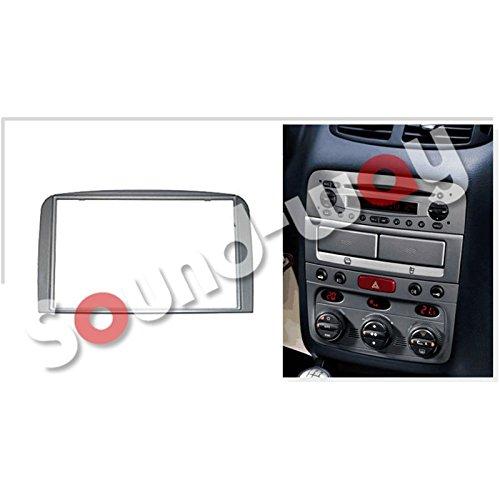 Mascherina supporto adattatore autoradio 2 DIN per Alfa Romeo 147 con adattatore antenna e chiavi