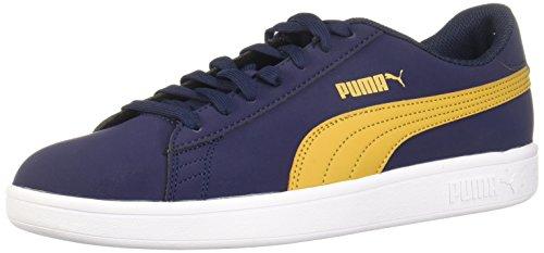 PUMA Men's Smash Buck Sneaker, Peacoat-Honey Mustard, 11 M - Sneaker Buck
